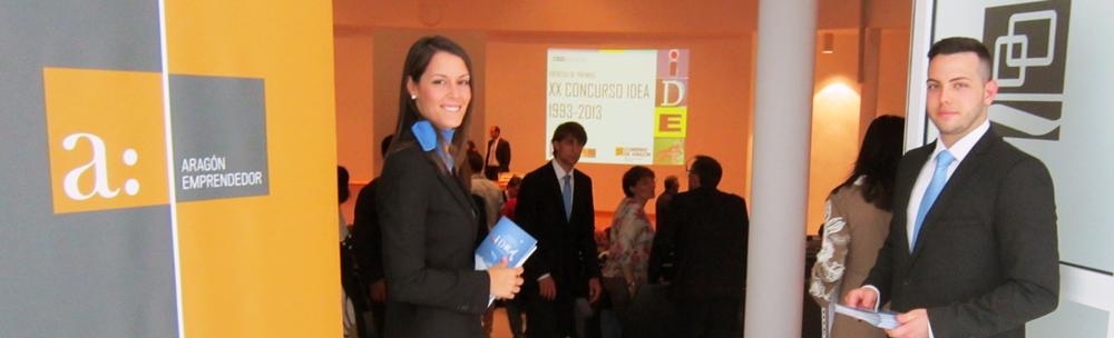 Azafatas y azafatos para congresos y eventos, en el concurso idea Zaragoza, Aragon-Emprendedor