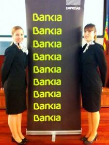Azafatas y azafatos de protocolo para promociones, convenciones, congresos, eventos e imagen Bankia Valencia